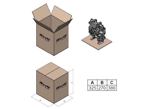 ابعاد و وزن پمپ دیافراگمی Dia مدل DP05