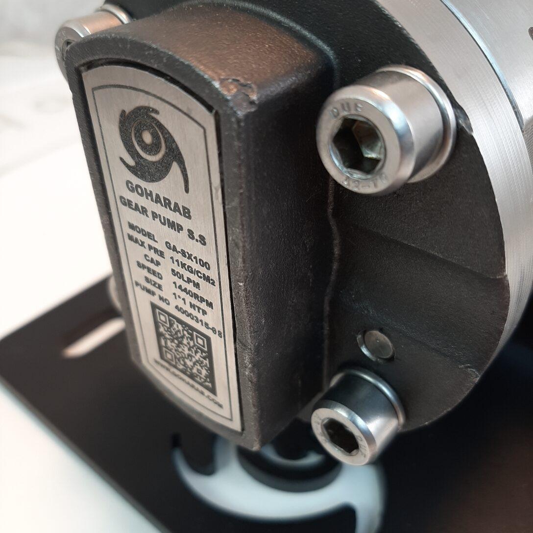 مشخصات پمپ دنده ای - غلیظ کش استیل گوهراب goharab مدل GA-SX100
