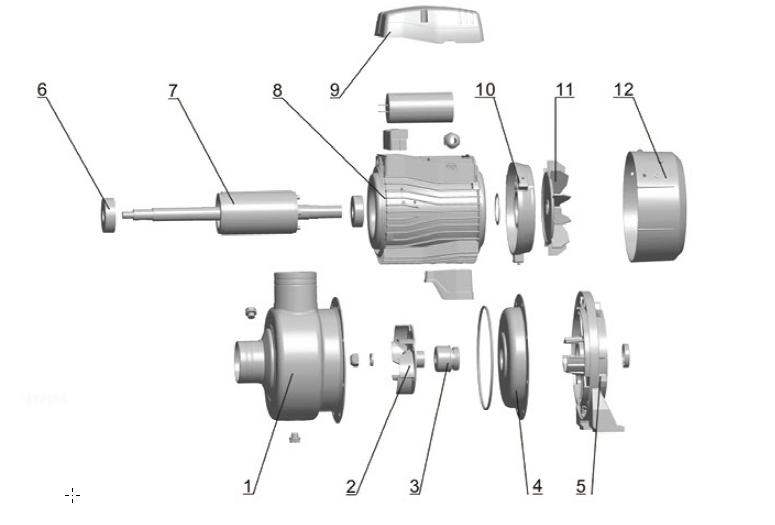 قطعات (Spare Part) پمپ استیل سانتریفیوژ ( گریز از مرکز ) لئو LEO سری ABK
